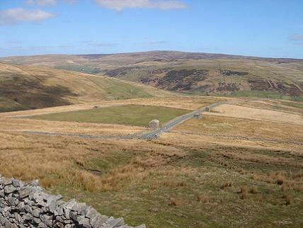 On a road between Thwaite and Tan Hill Inn, north yorkshire