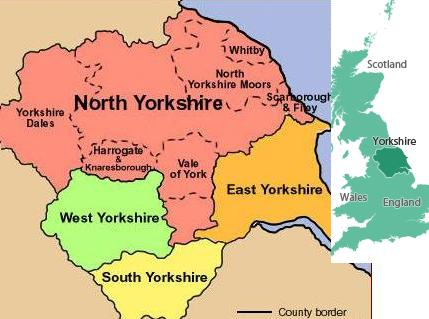 Map of North Yorkshire